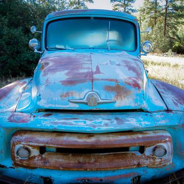 Old Blue Truck in Field.jpg