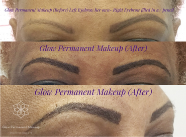 glow permanent makeup results