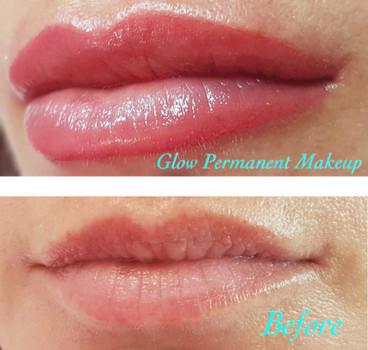 glow permanent makeup lips