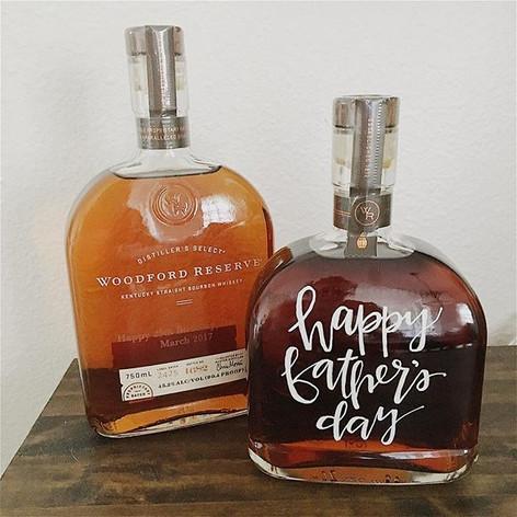 Lettered Bourbon Bottle