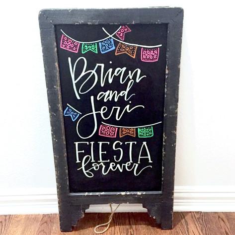 Fiesta Forever Chalkboard - Front