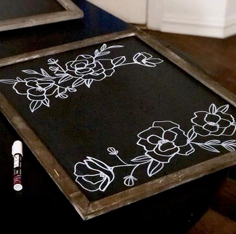 Chalkboard Florals