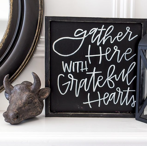 Grateful Hearts Chalkboard