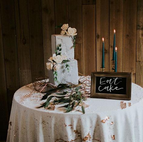Eat Cake Chalkboard Sign