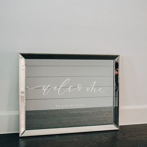 Wedding Welcome Mirror Decal