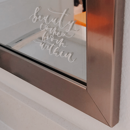 Beauty Comes From Within Mirror Decal
