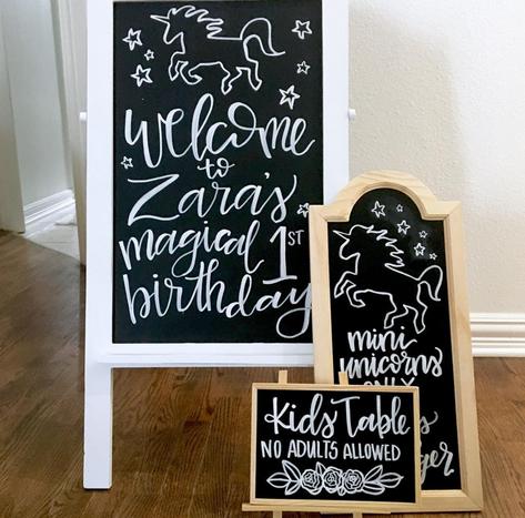 Magical 1st Birthday Chalkboard Set