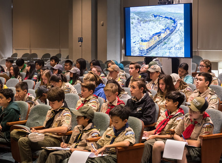 Scouts learn about railroads, ride the Gold Line