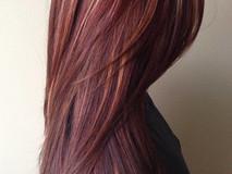 Burgundy violet copper