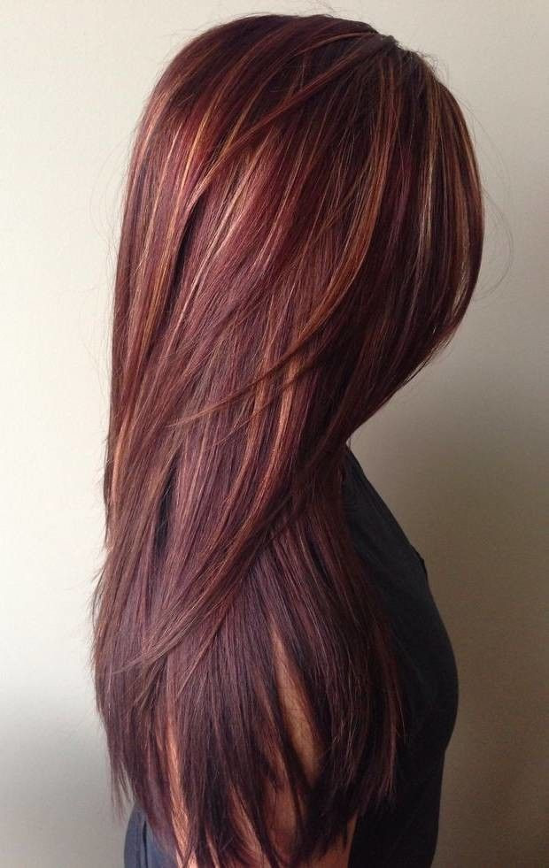 Burgundy violet copper