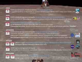 50 Aniversario llegada a la Luna. Ciclo de eventos de exploración espacial.