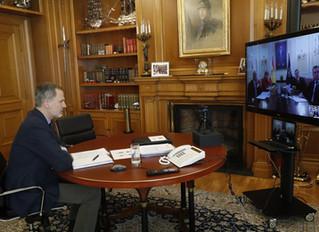 Videoconferencia de Su Majestad el Rey con el Instituto de la Ingeniería de España.