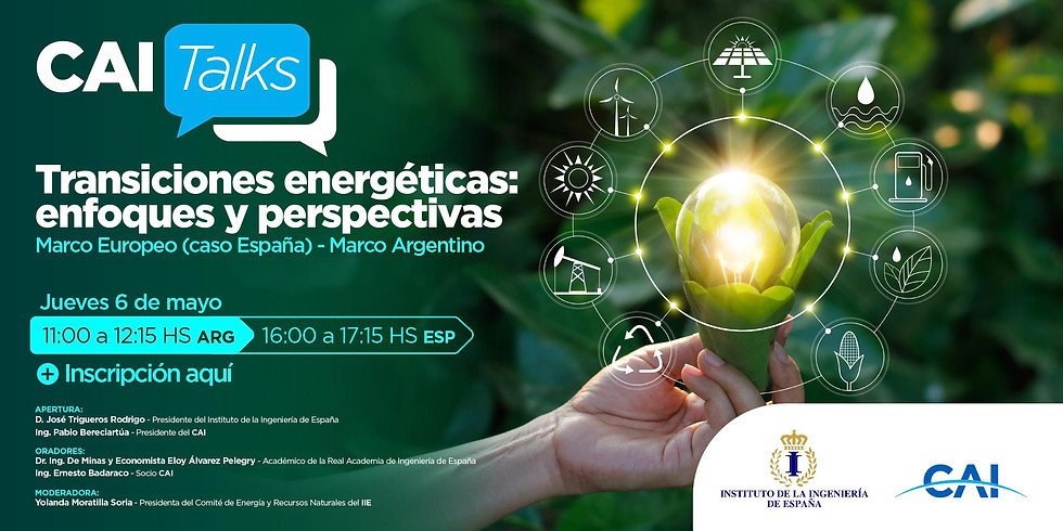 Transiciones energéticas: enfoques y perspectivas. Colaboración IIE - CAITalks