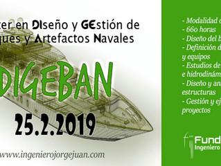 Máster Online en Diseño y Gestión de Buques y Artefactos Navales 2019.