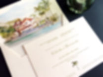 Convite com aquarela