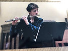 0 GN Janet Stodd with flute and music st