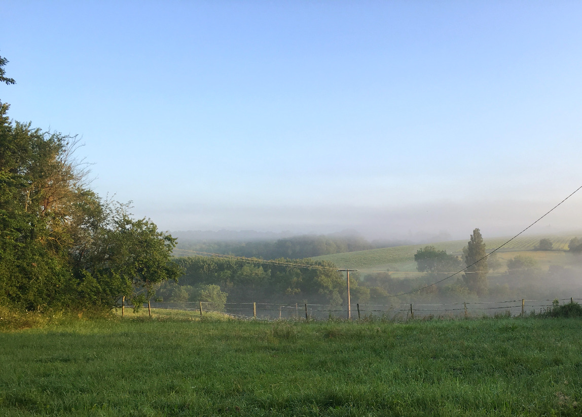 Misty morning across the valley