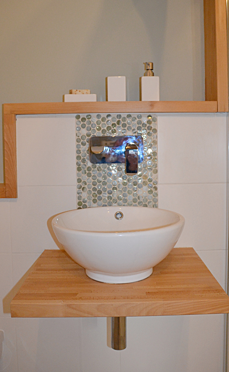 Modern bathroom Le Peuplier gite