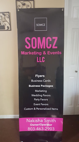 Custom Banner with stand 2x6