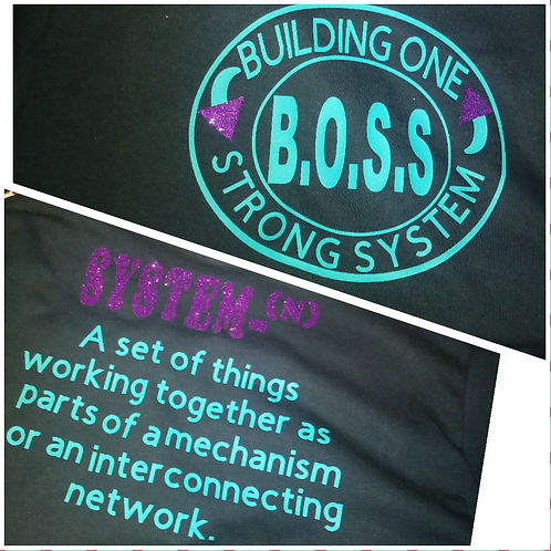 B.O.S.S SHIRT ( FRONT & BACK)