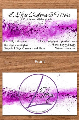 2 sided business cards 500ct