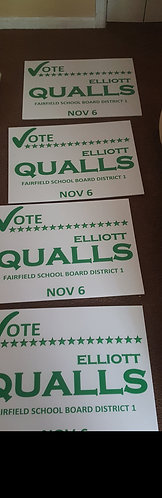 50 yard signs front and back