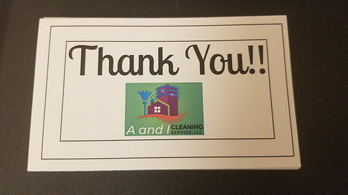 3x5 Thank you cards (150 ct. 2 sided)