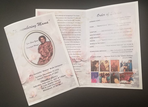 Obituary design only