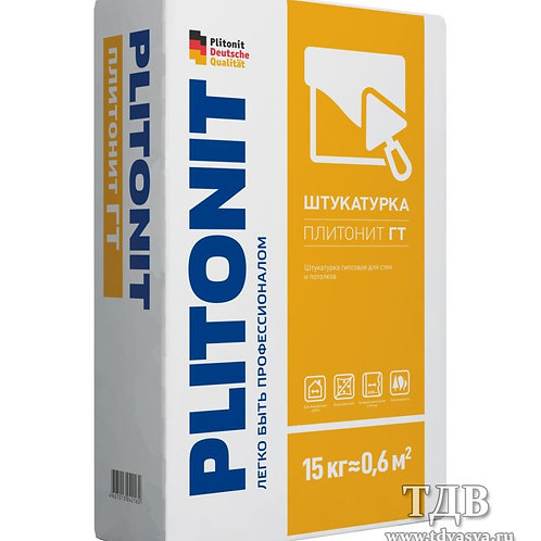 Штукатурная цементная смесь Плитонит ГТ  15кг.