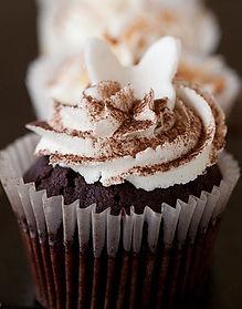 cream cake choc butterfly