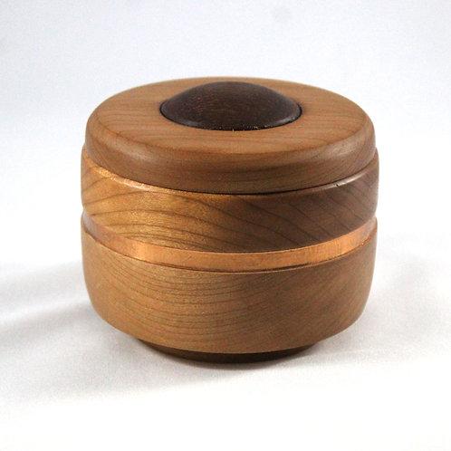 Cherry Padauk Lidded Bowl