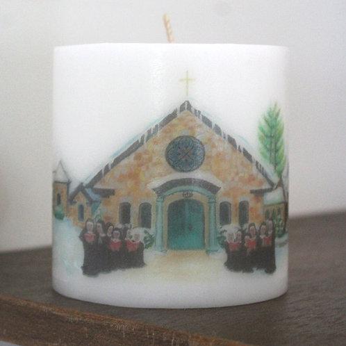 St. Scholastica Priory Christmas Candle