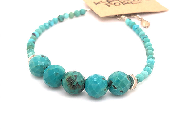Faceted Tuquoise Bracelet