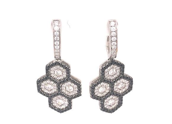 Black and White Diamond Earrings