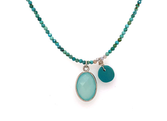 Turquoise Chalcedony Necklace