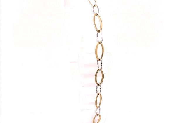 2-Tone Oval Link Bracelet
