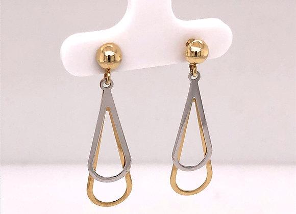 2-Tone Teardrop Earrings