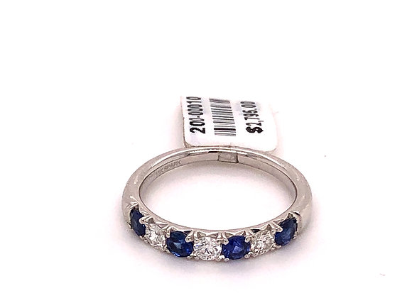 Sapphire and Diamond Stackable Band