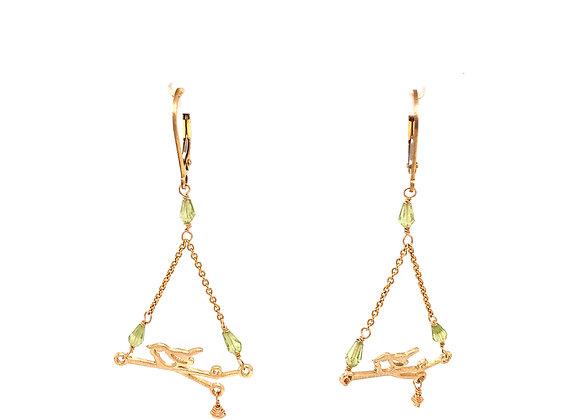 Bird on Branch Earrings