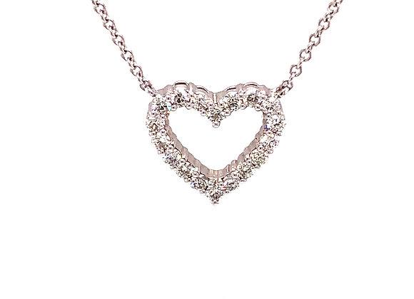 Heart Shape Diamond Pendant Necklace