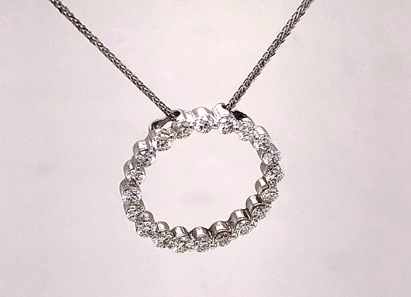 Diamond Circle Pendant/Necklace