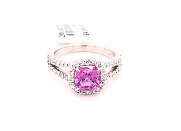 No Heat Pink Sapphire Ring