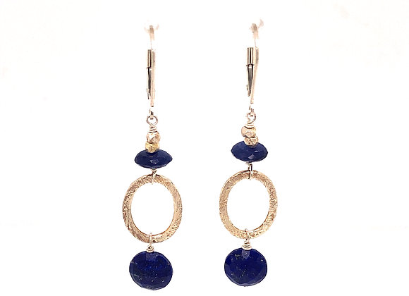 Lapis and Saaphire Earrings