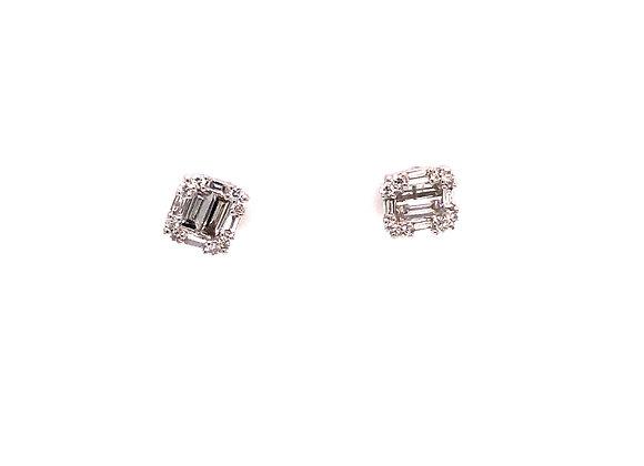 Mosaic Diamond Stud Earrings