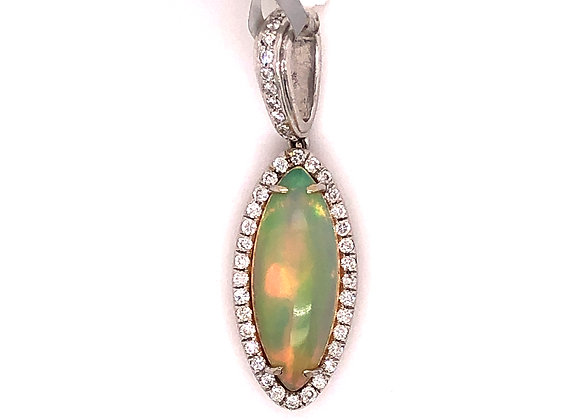 John Buechner Opal and Diamond Pendant
