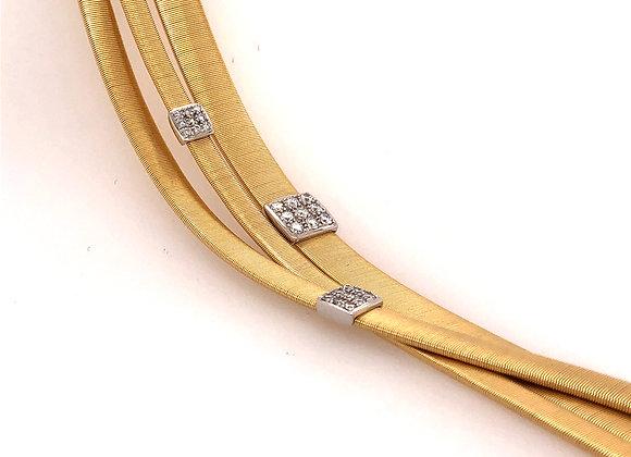 Marco Bicego Three Strand Crossover Diamond Bracelet