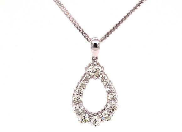 Teardrop Diamond Pendant/Necklace
