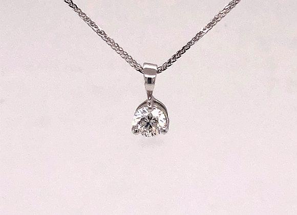 3 Prong Diamond Solitaire Pendant/Necklace