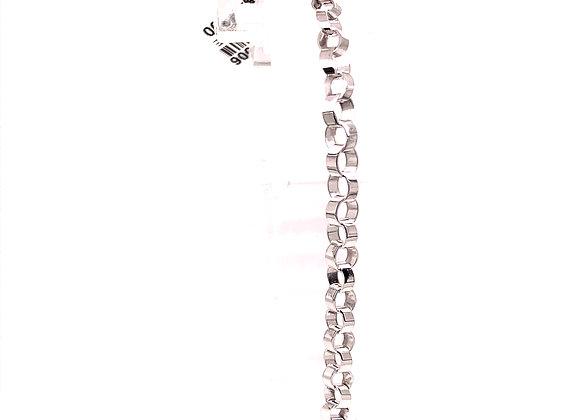 Angled Oval Link Bracelet