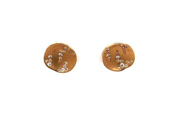 Yellow Gold Disk Earrings